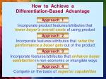 how to achieve a differentiation based advantage