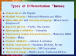 types of differentiation themes