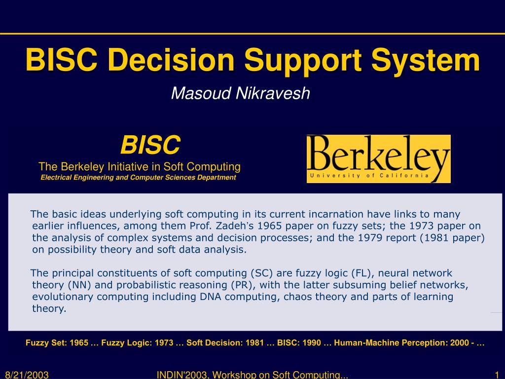 bisc decision support system l.