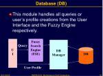 database db