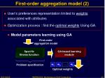 first order aggregation model 2