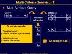 multi criteria querying 1