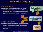 multi criteria querying 2