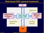 web based dss general framework