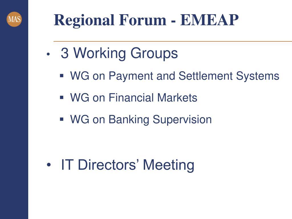 Regional Forum - EMEAP
