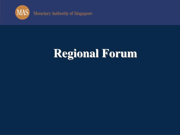 Regional forum