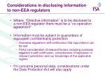 considerations in disclosing information to non eea regulators