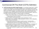commercial off the shelf cots definition