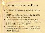 competitive sourcing threat