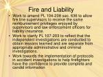 fire and liability