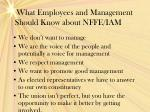 what employees and management should know about nffe iam