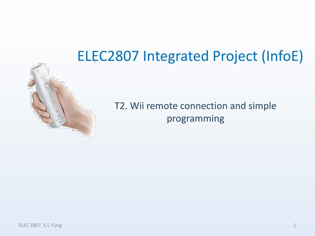 t2 wii remote connection and simple programming l.