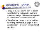 biclustering samba a tanay r sharan and r shamir 200244