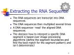 extracting the rna sequence