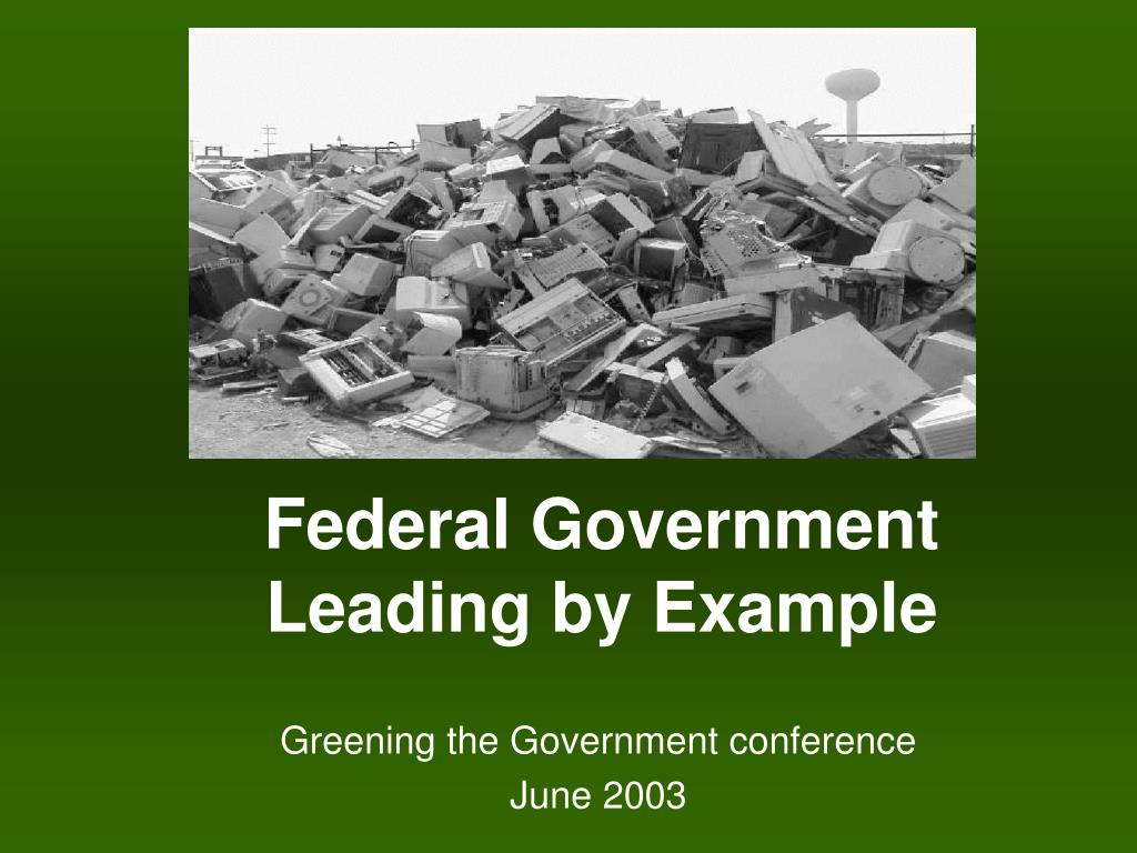 federal government leading by example l.