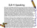 ilr 4 speaking