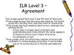 ilr level 3 agreement