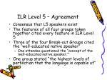 ilr level 5 agreement