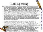 ilr3 speaking