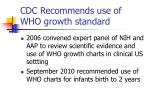 cdc recommends use of who growth standard
