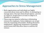 approaches to stress management