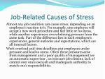 job related causes of stress