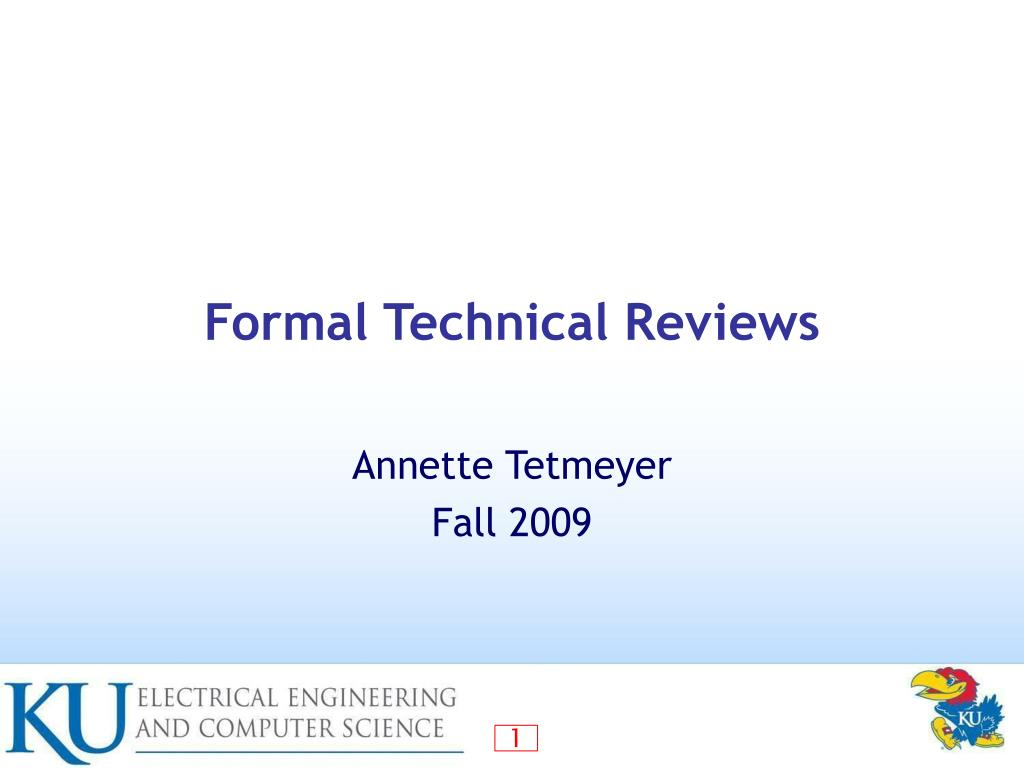 formal technical reviews l.