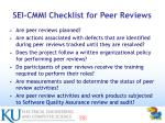 sei cmmi checklist for peer reviews