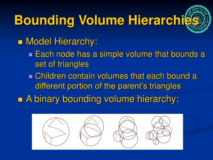 Bounding Volume Hierarchies