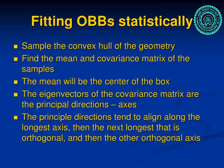 Fitting OBBs statistically