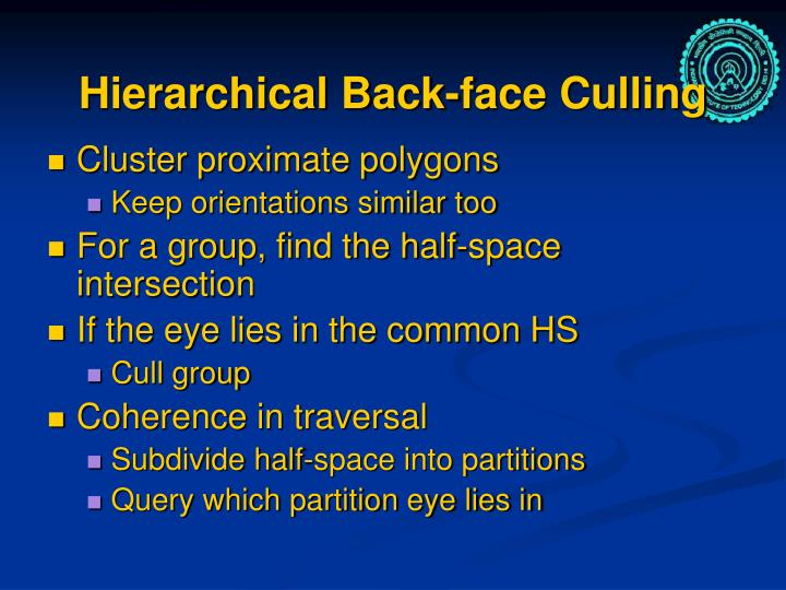 Hierarchical Back-face Culling