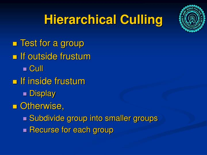 Hierarchical Culling