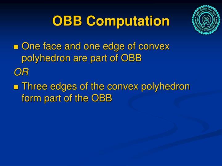 OBB Computation