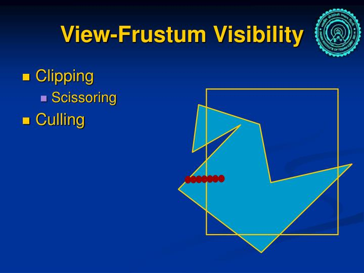 View frustum visibility