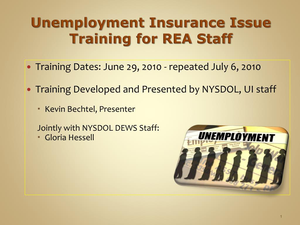 unemployment insurance issue training for rea staff l.