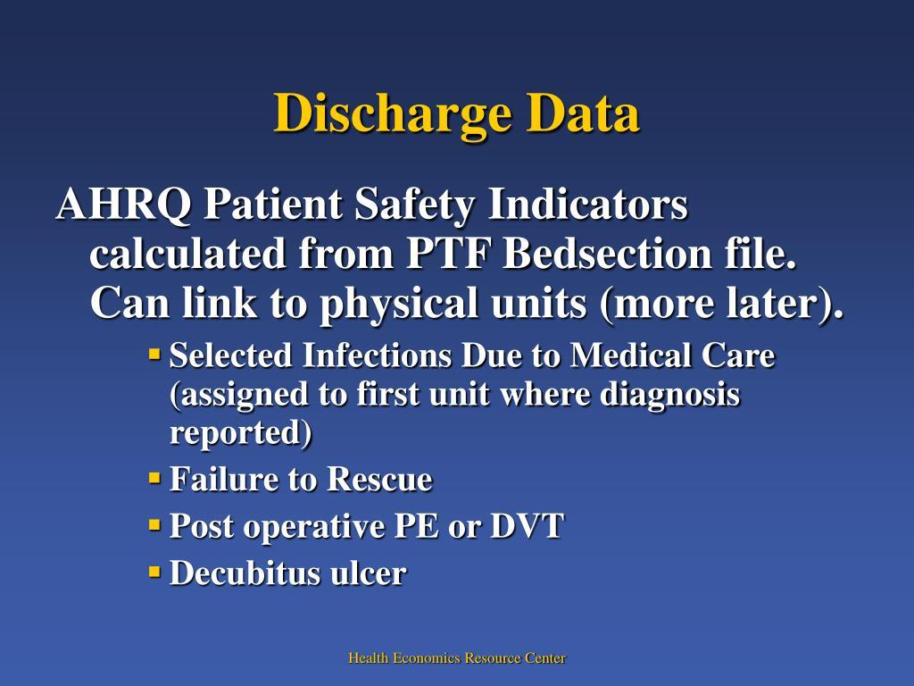 Discharge Data