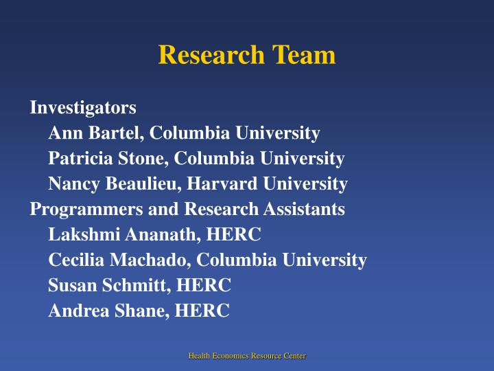 Research team