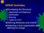 epeat activities