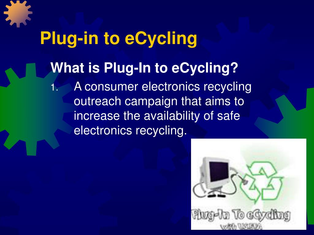 Plug-in to eCycling