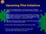 upcoming pilot initiatives