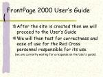 frontpage 2000 user s guide
