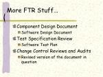 more ftr stuff