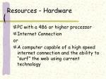 resources hardware