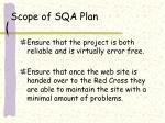 scope of sqa plan