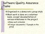software quality assurance tasks