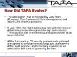 how did tapa evolve