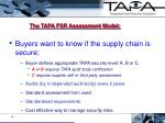 the tapa fsr assessment model
