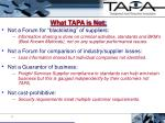 what tapa is not