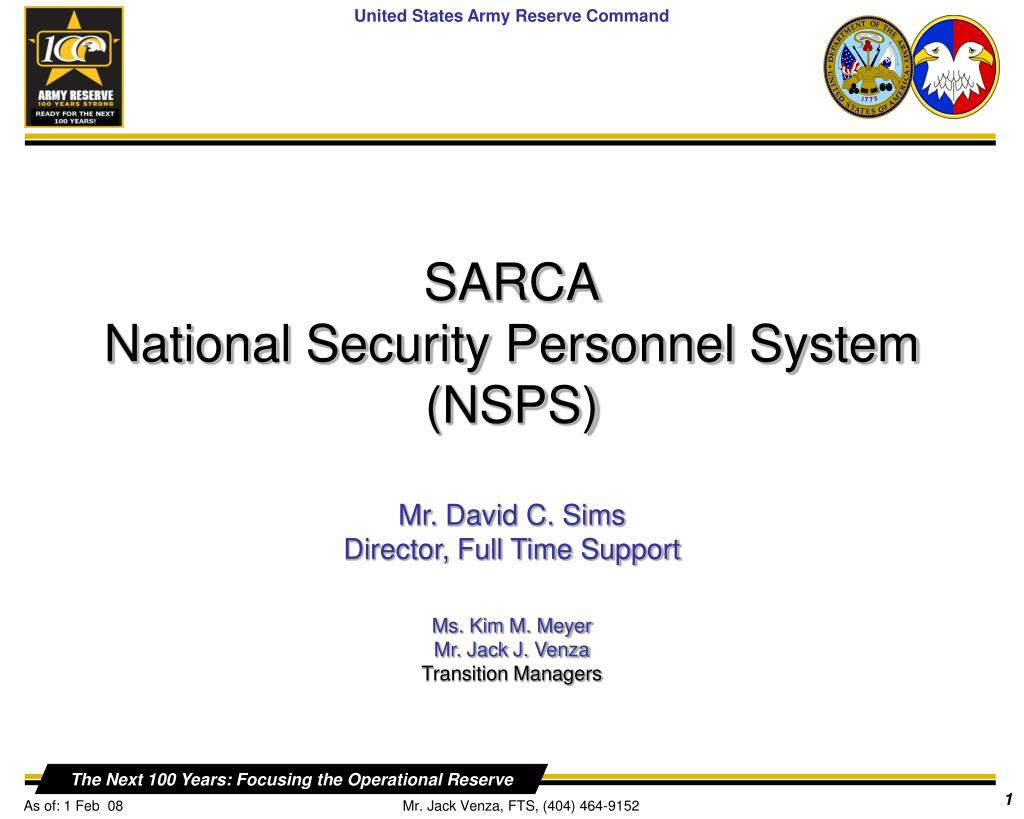 sarca national security personnel system nsps l.