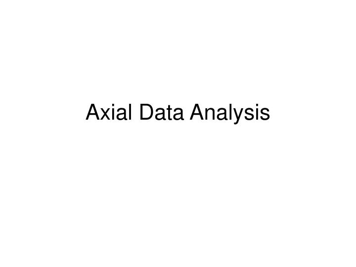 axial data analysis n.